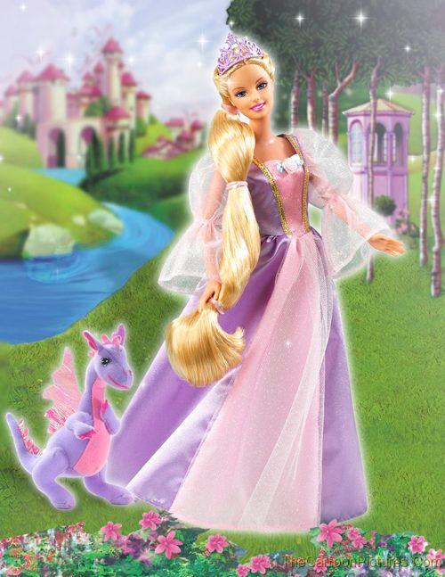 Rapunzel-barbie