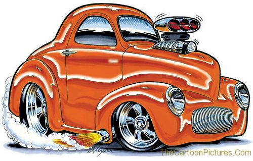 cartoon-old-car