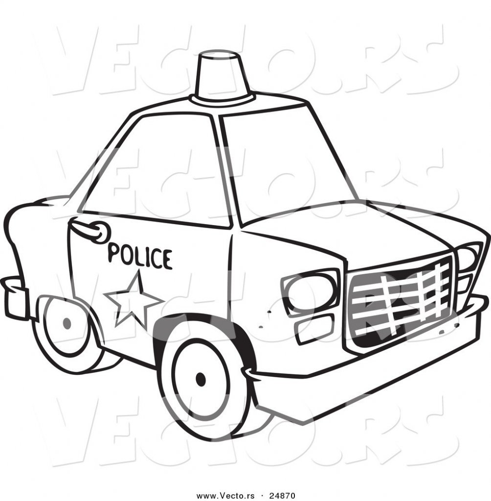 Colouring cartoon police car picture colouring cartoon for Cars cartoon coloring pages