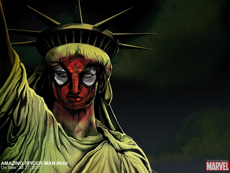 spider man Statue of Liberty 800x600