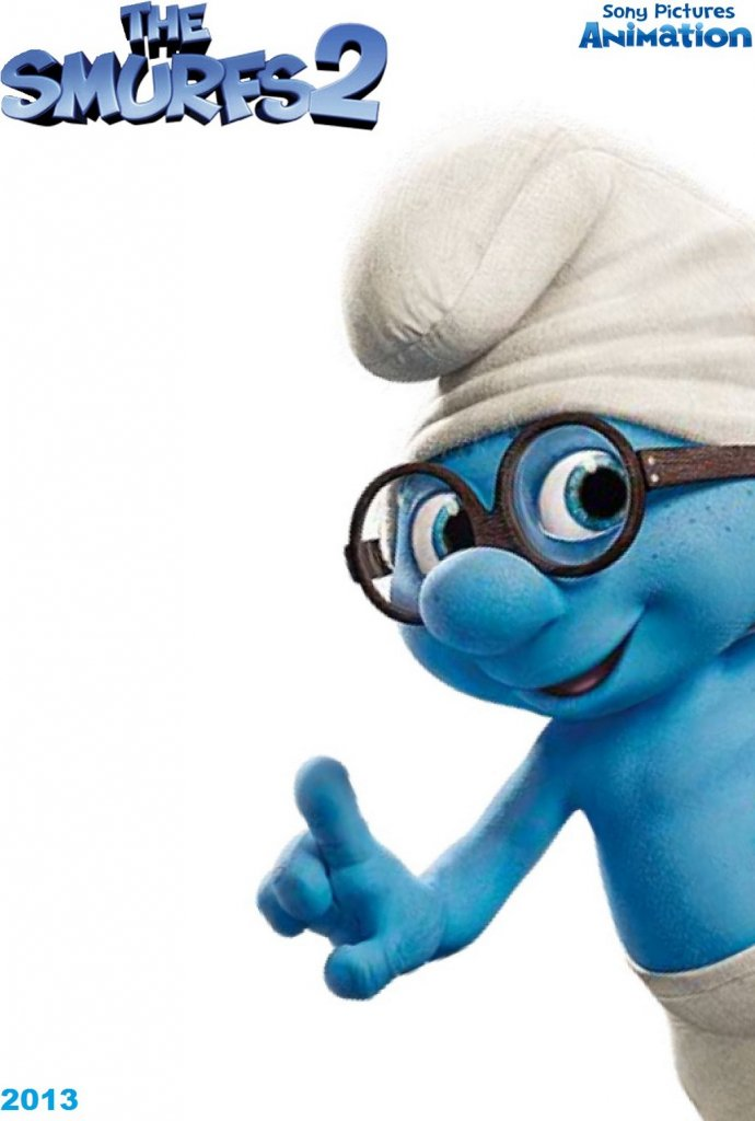 The Smurfs glases