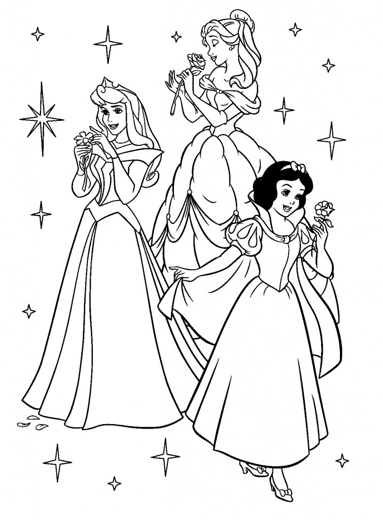 disney princesses. Disney-Princesses-Coloring
