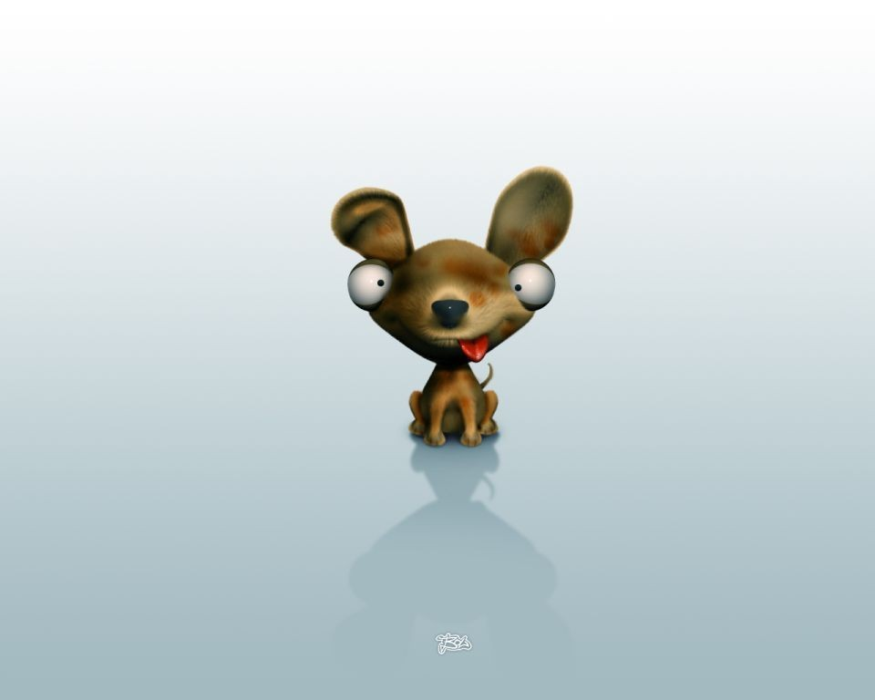 wallpaper dog. cartoon-dog-3d-wallpaper photo