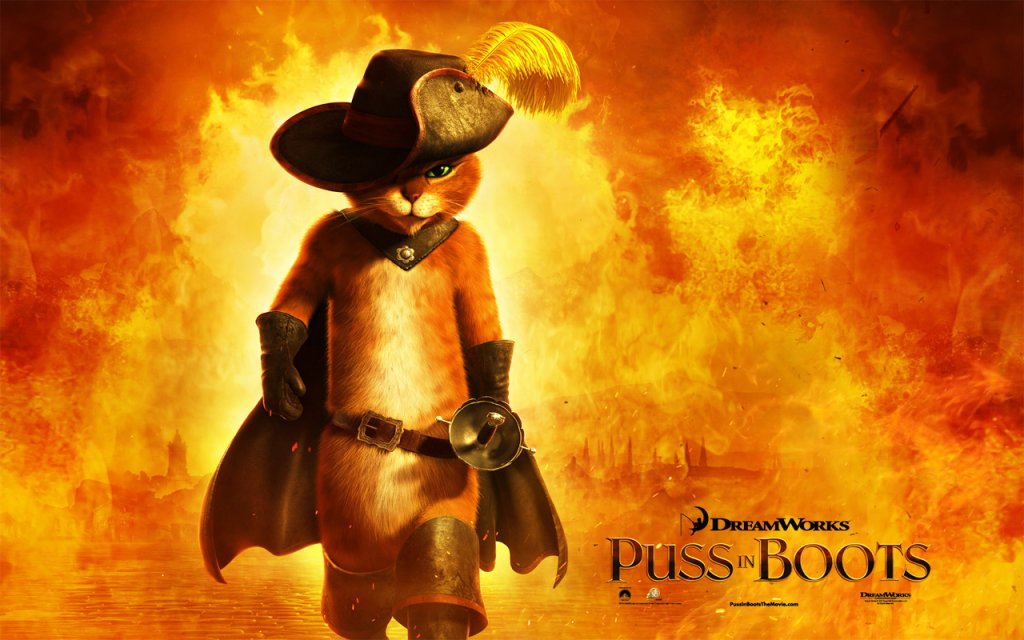 Puss in boots Poster 1280x800 widescreen