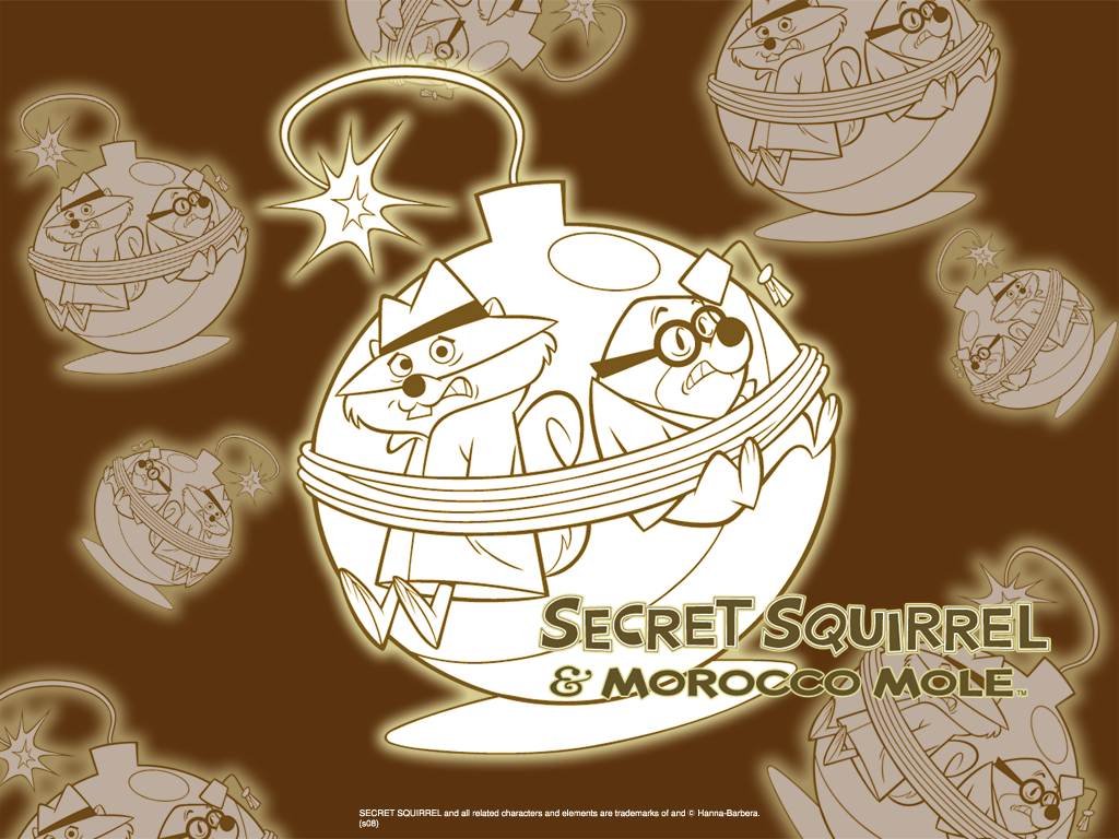 secret squirrel wallpaper 1024
