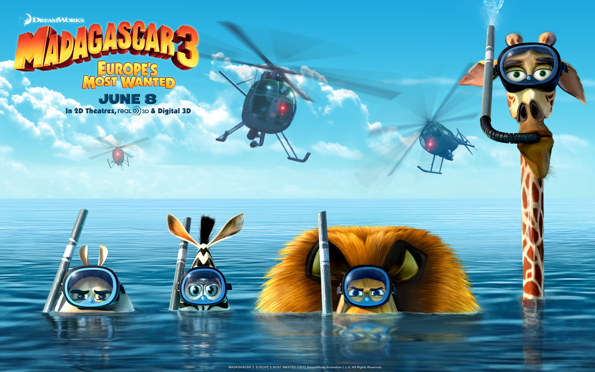 madagascar 3 1920x1200 widescreen