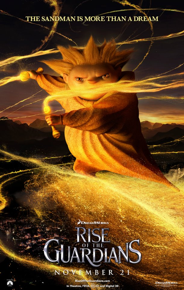 Rise of the Guardians movie poster sandman