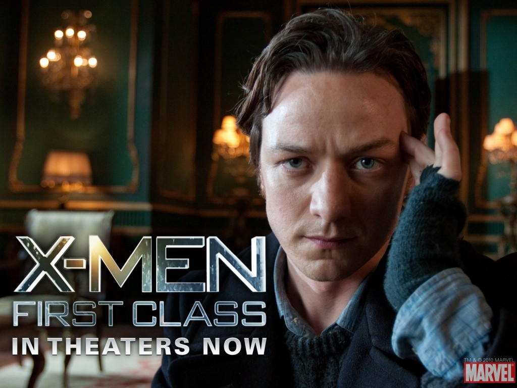 James McAvoy first class x men 1024x768