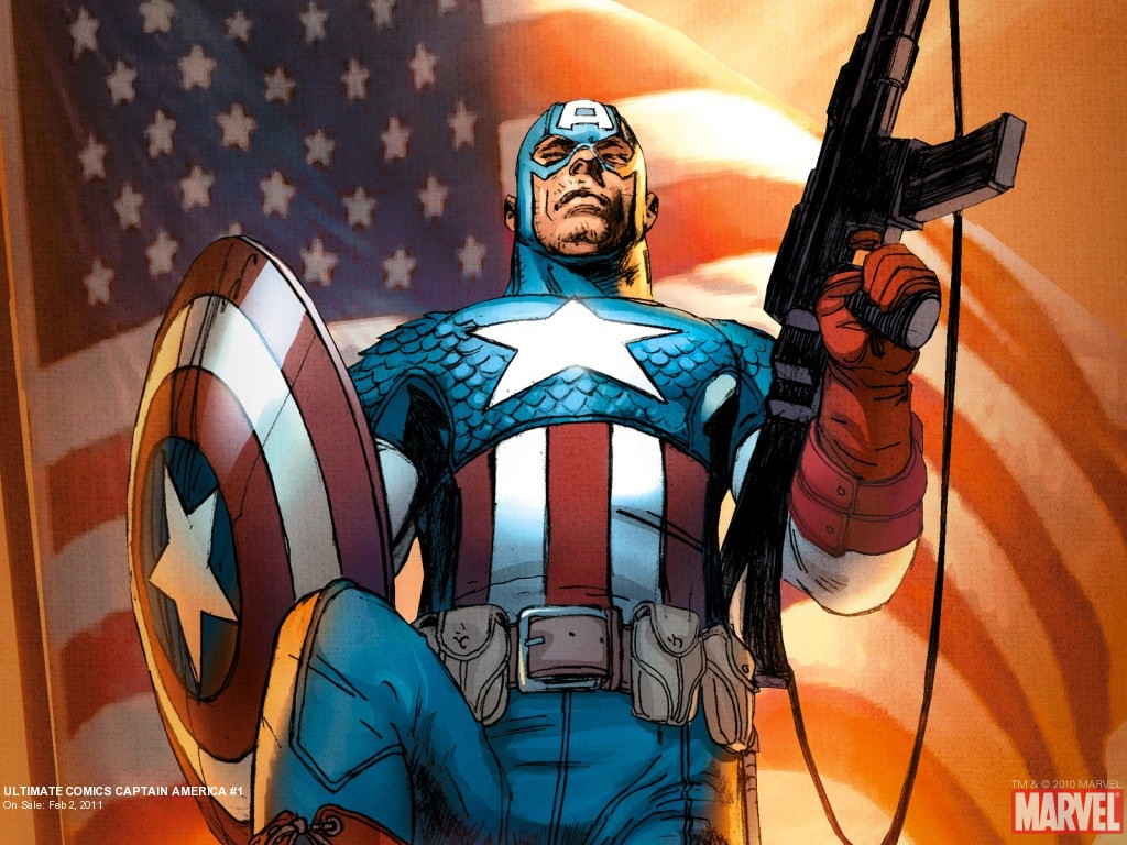 Captain America cartoon 1024x768
