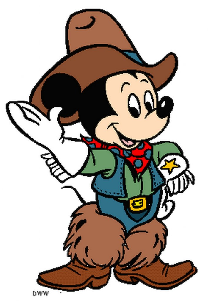 mickey Mouse cowboy