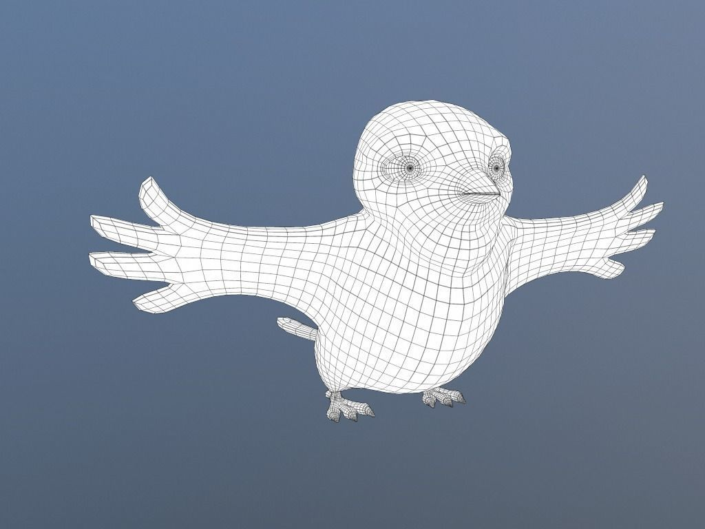 004 cardinal-cartoon-bird-3d-model-low-poly-obj-fbx-dae-mtl