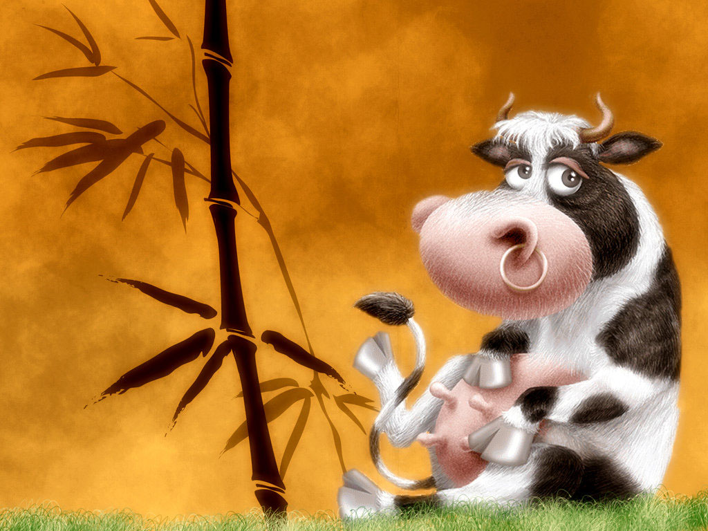 cute cartoon cow-normal
