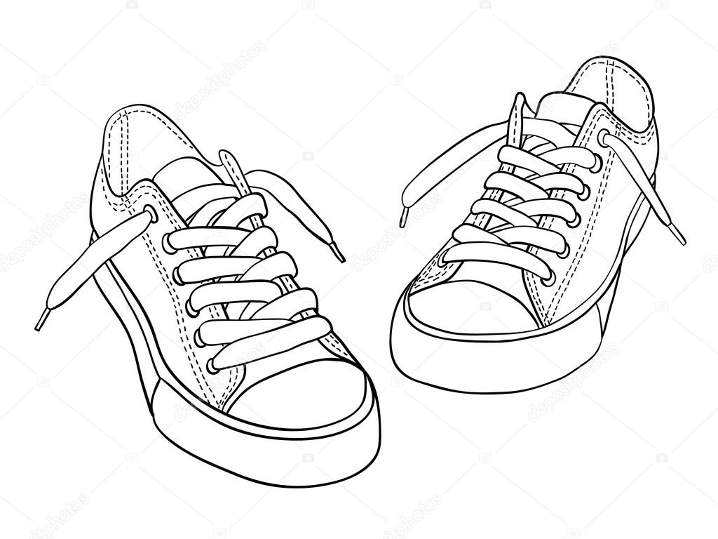 depositphotos 34492041-stock-illustration-cartoon-sneakers