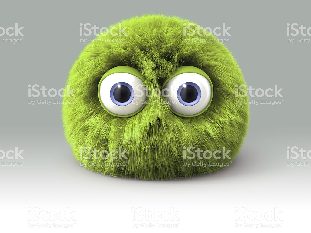 furry-green-cartoon-spherical-monster-character-picture-id463226213