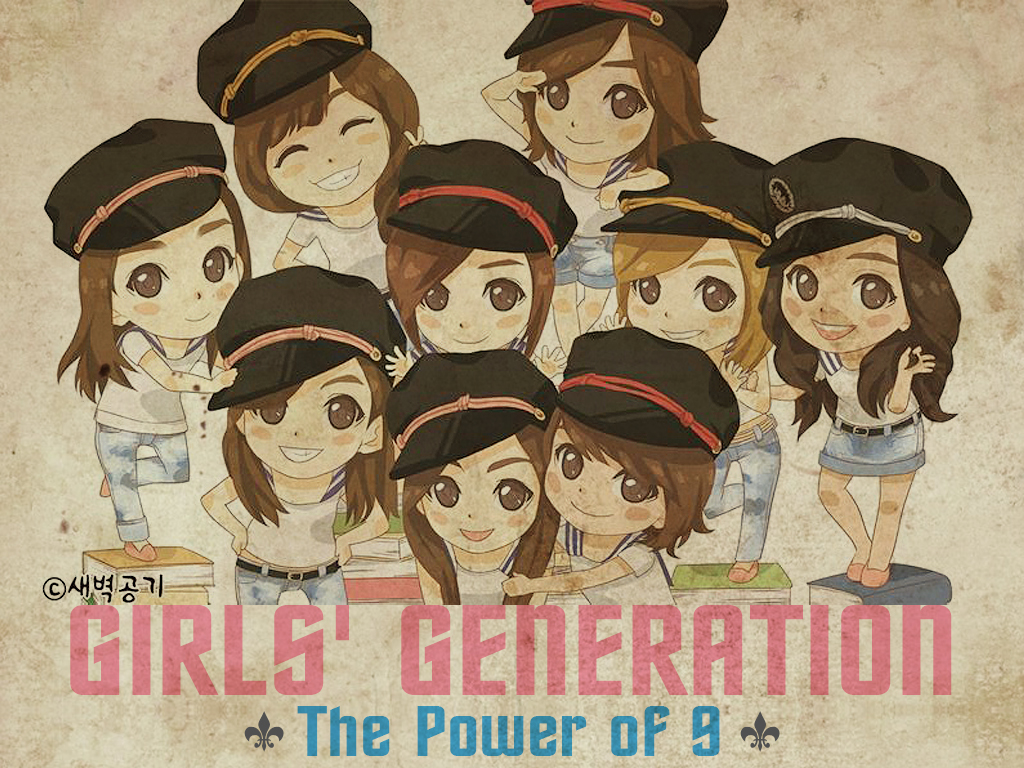 snsd  s genie cartoon wallie by o0someday0o