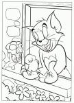 tom and jerry coloring page free