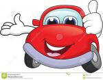 car cartoon red