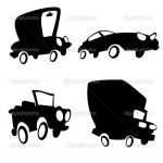 cartoon cars black