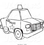colouring cartoon police car