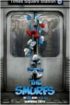 The Smurfs poster black