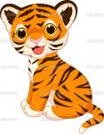 baby tiger cartoon