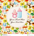 free cartoon baby card