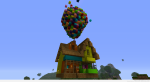 minecraft up house