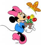 minnie Mouse flowers and fly