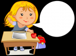 Cartoon-Girl-with-Tablet-at-Desk-Balloon